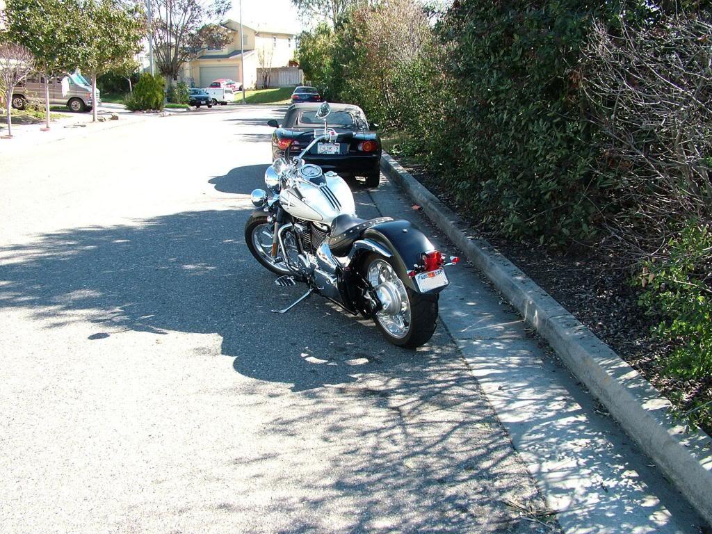 Modified rear fender ...... 2003 Suzuki Volusia DSCF7260