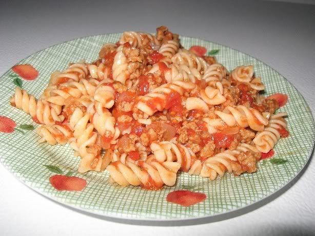 Fusillis tomatés aux saucisses Fusillistomatessaucisses