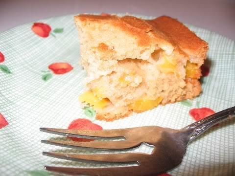 Gâteau aux pêches fraîches Gateaupeches2
