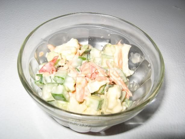 Salade de légumes croquants au parmesan Legcroquantsparmesan