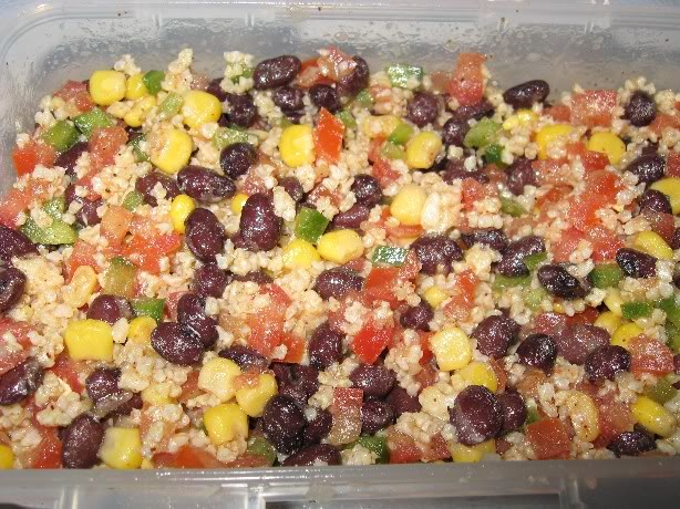 Salade de millet aux haricots noirs Milletharnoirs