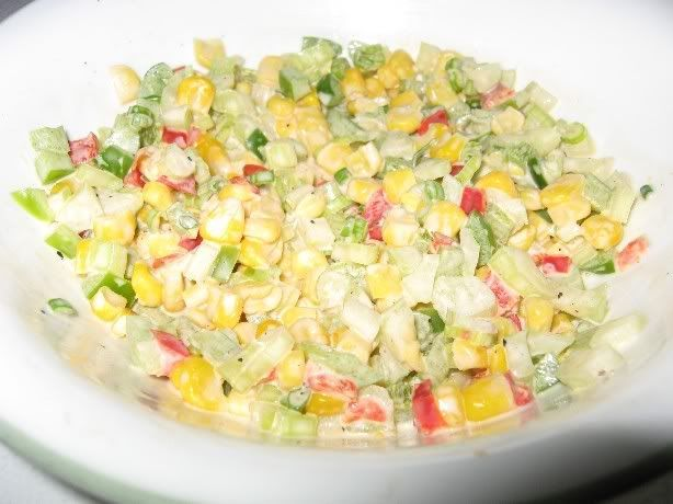 Salade de maïs colorée Salademais