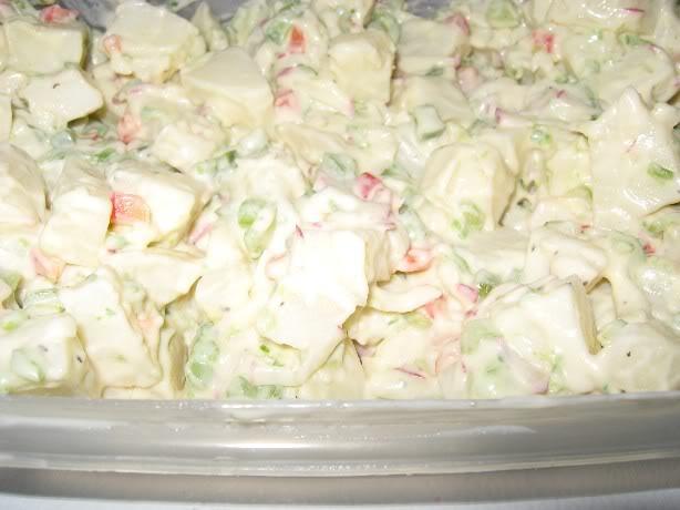 Salade de pommes de terre crémeuse Saladepatates