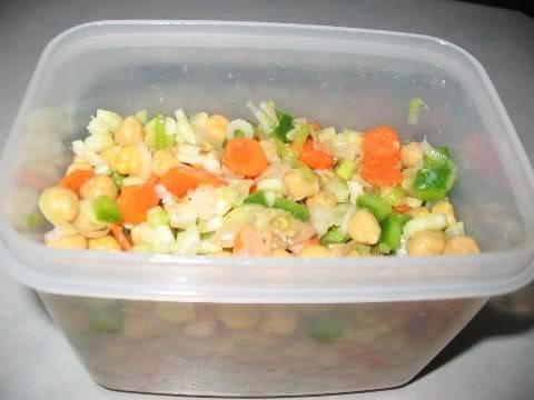 Salade de pois chiches marinée Saladepoischiches