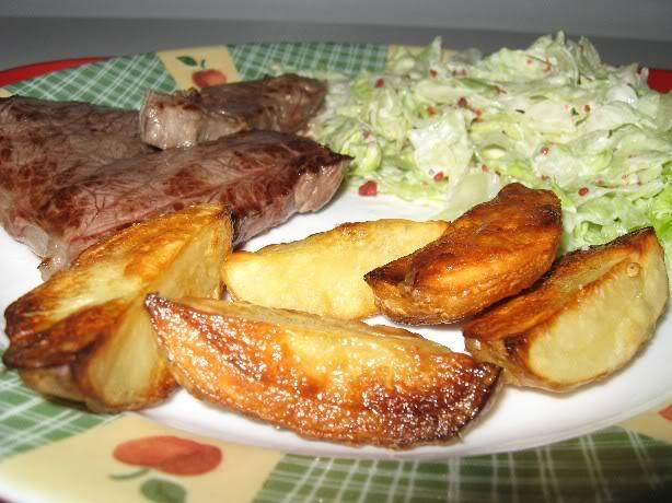 Frites au four ou pommes de terre à la grecque Steakpatatesgrecques