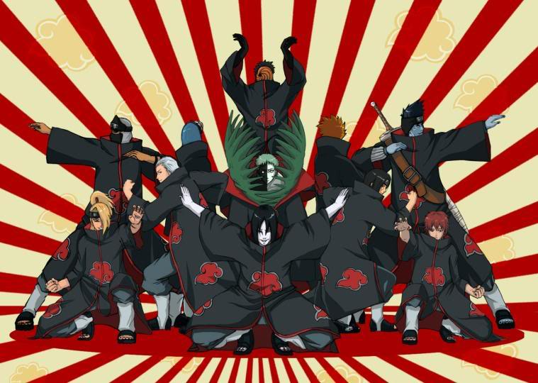 Cosas graciosas que e visto en Internet sobre manga/anime. Akatsuki