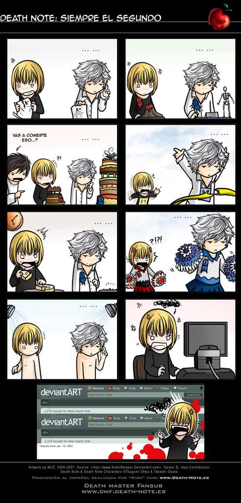 Cosas graciosas que e visto en Internet sobre manga/anime. DeathNoteparodia
