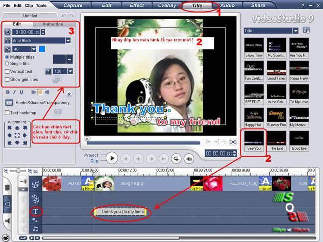 Hướng Dẫn Làm Film Trên Video Studio9 Chenchu