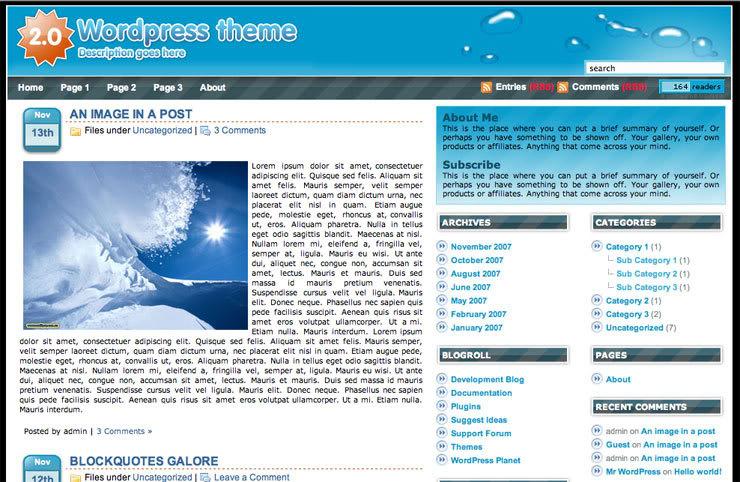 O2 Wordpress Theme