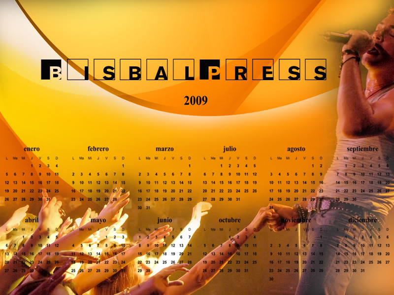 POSTERE, CALENDARE  SI WALLPAPERS CU DAVID BISBAL Calendario22009wi7