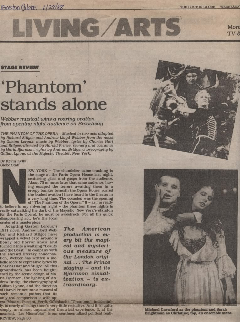Original Reviews: London (1986); Broadway (1988) BGreview1