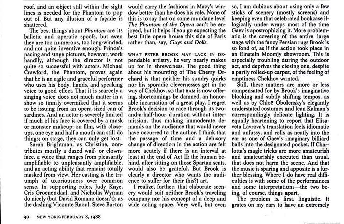 Original Reviews: London (1986); Broadway (1988) Simon3