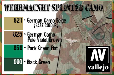 German Splinter Pattern Camo tutorial