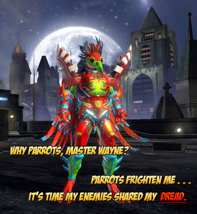 By far the coolest character made in DCUO. Cocoanarchy
