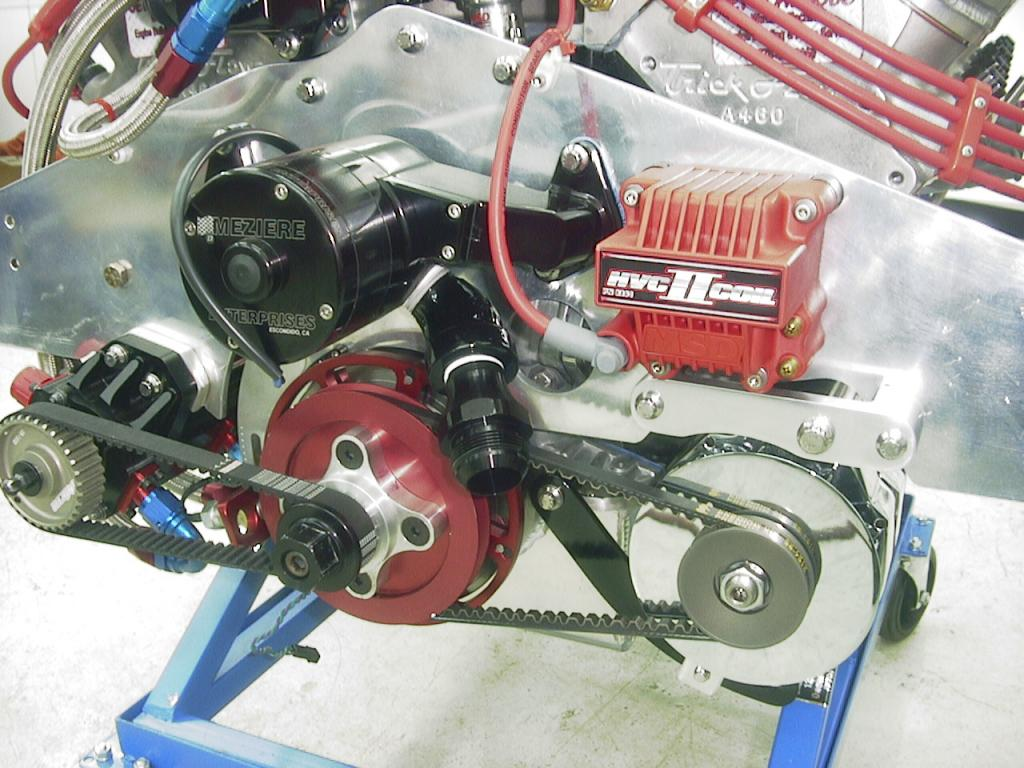 Alternator and Crank pulleys for a Drag application. Eng27_zpsa101abcb