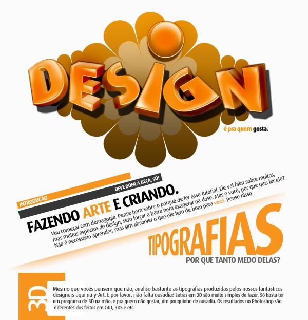 [Dica][Tipo] (V1) Design É Pra Quem Gosta, Dicas Legais e Tipografia Tutorial-Design-1a