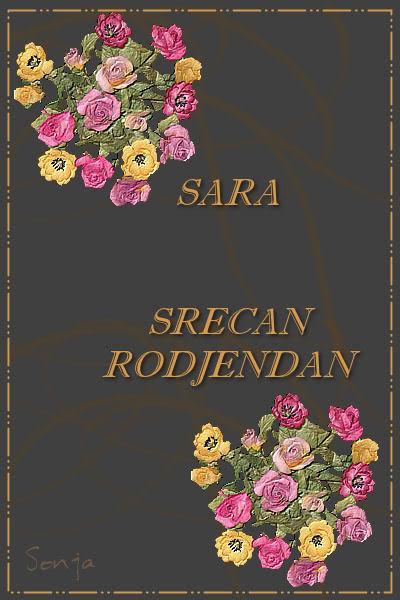 Secan rodjendan Sara ... Sara