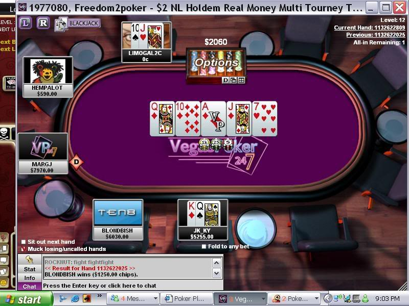 First one in awhile RoyalFlush