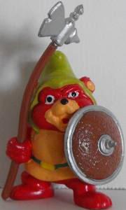 LES GUMMI - GUMMI BEARS (Fisher Price) (Kellogs) 1985 GummiBearGruffiAxe