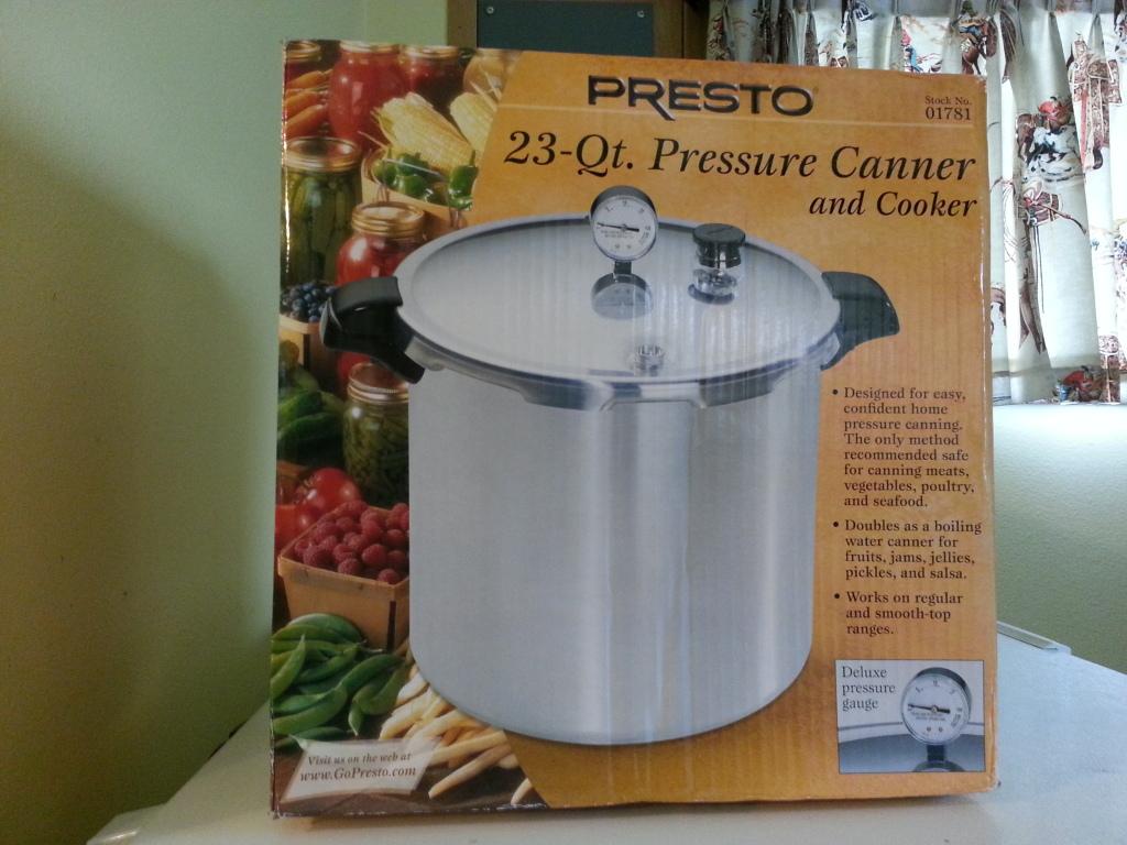 23 Quart Presto Canner/Pressure Cooker $70 8/11/12 only 20120815_164450