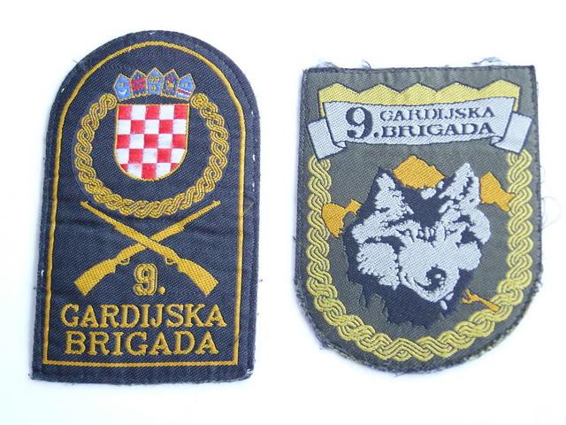 insignes Croate H.V et H.V.O 1991/1995 9thGuardsBrigade