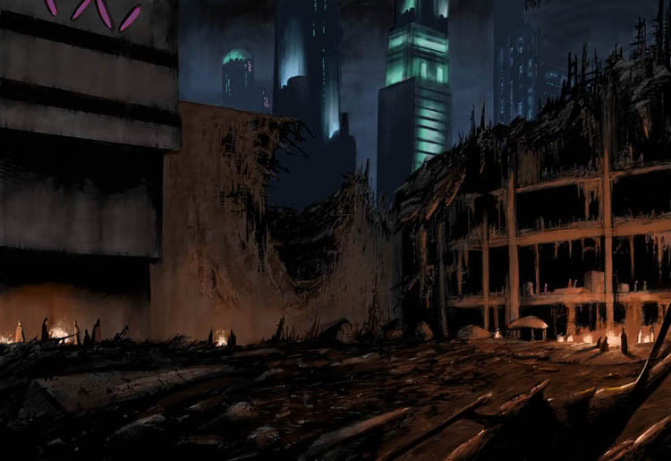Reaper Invasion - Humanity's Counterattack City_Slums_by_Livio_by_Livio27