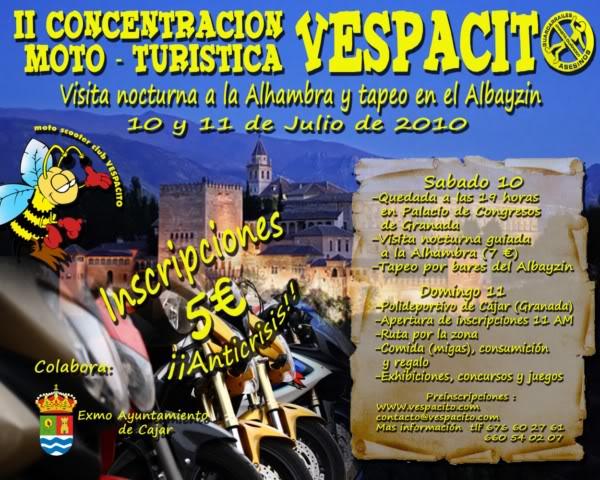 Concentración mototuristica Vespacio: 10 y 11 de Julio CONCENTRACIN2010