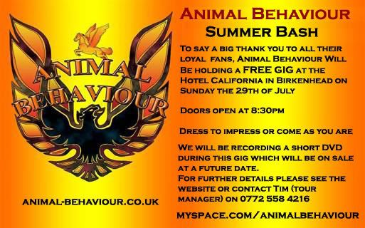 Animal Behaviour's Summer Bash Summerbash