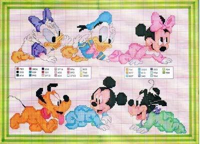 Esquemas infantis ponto cruz Disney_bebes_6