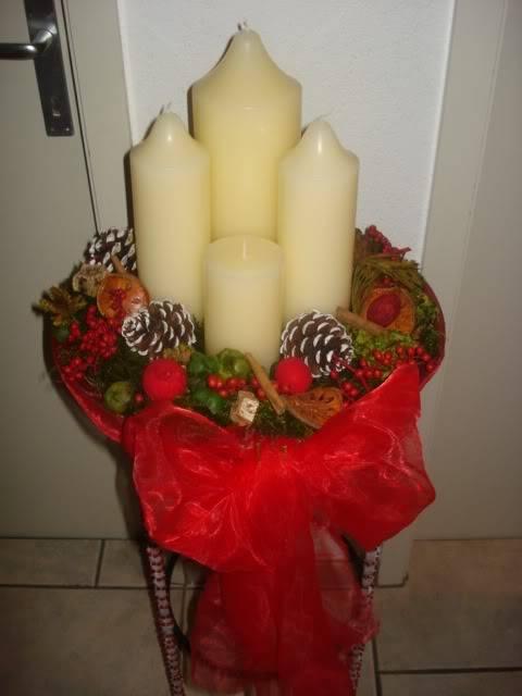 Desafio das decorações de Natal Velas