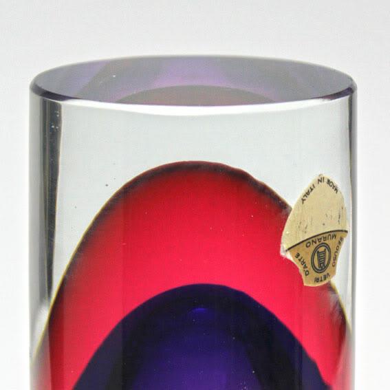 Murano sommerso vase 4b-77