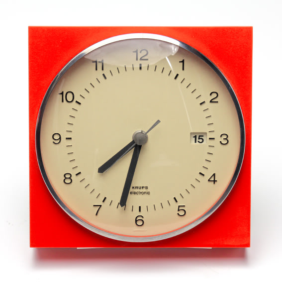 Krups Electronic Wall Clock w/ Calendar Clock_1