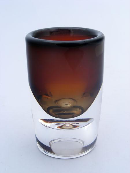 Complex Opalescent Cased Vase w/ Hollow Base Vase_1