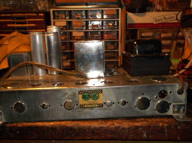 Restoration of RCA Victor R-98  1939 table top victrola 2012_0924RCAVictorR-980017