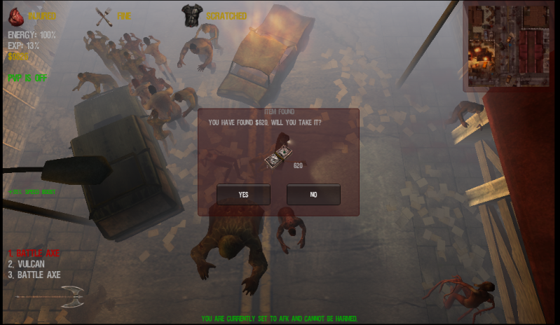 Do you really have to kill zombies to loot..............I think not :D Ditchingzeds1