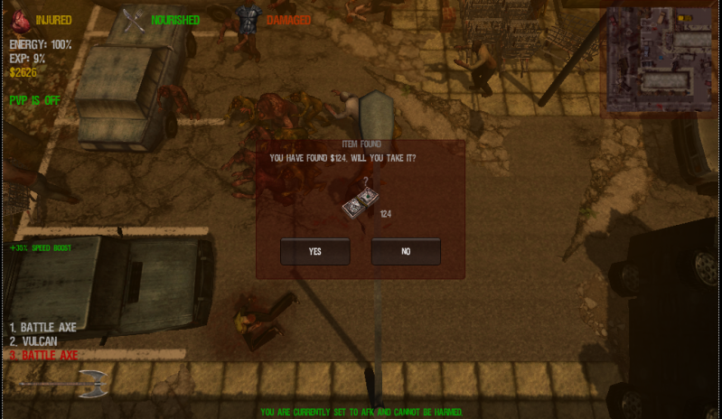 Do you really have to kill zombies to loot..............I think not :D Nowthatsditchingamob