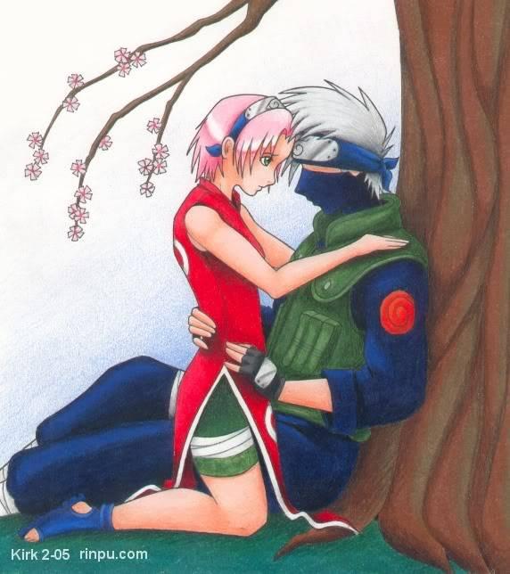Sous un arbre ... On en profite, ça se comprend ! Kakashi_and_Sakura_cuddle_by_Rinpu