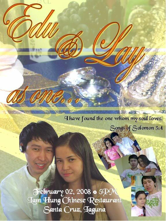 edu & lolie wedding invitation Draftinvitation
