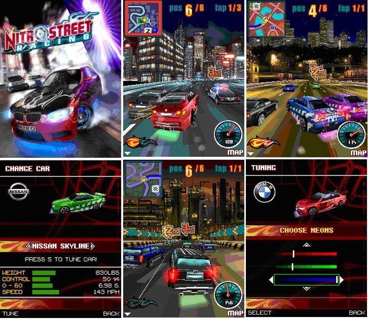 اجل العاب الجيل الثالث المجموعة الثالثة 6630,N70,N73,N85,E60,N95,8500 Nitro_Street_Racing