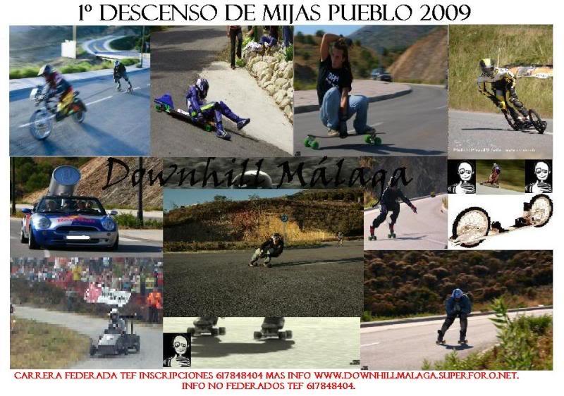1º Descenso  Federado Mijas  Pueblo 5 Septiembre 2009 CartelCarreraMijasPueblo2009