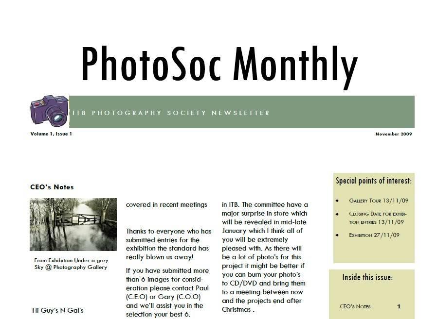 PhotoSoc Monthly E-zine - 1 PhotoSocMonthlyE-zine1Part1