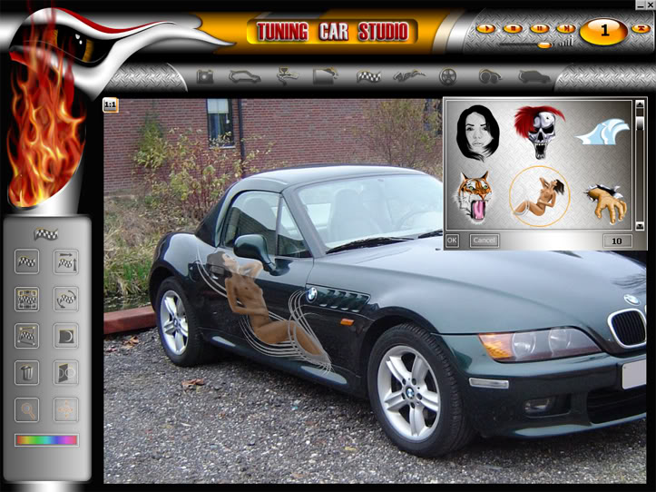 """Tuning Car Studio Premium 2008 - """"độ"""" xe trên máy tính 02"""