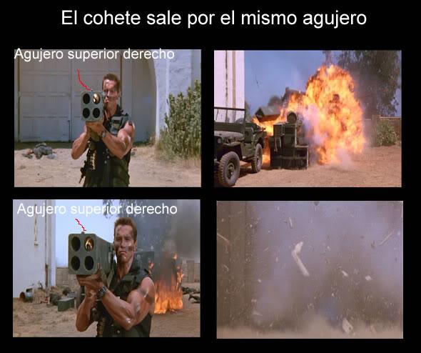 Arnold Schwarzenegger Coheteporelmismoagujero