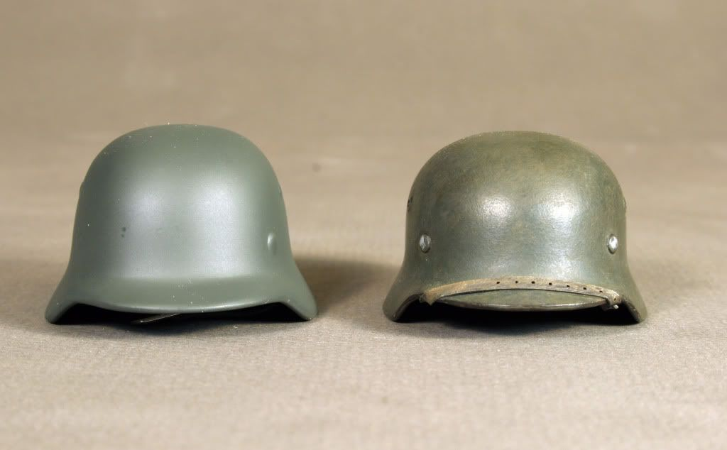 1/6 Scale German Helmet Comparison