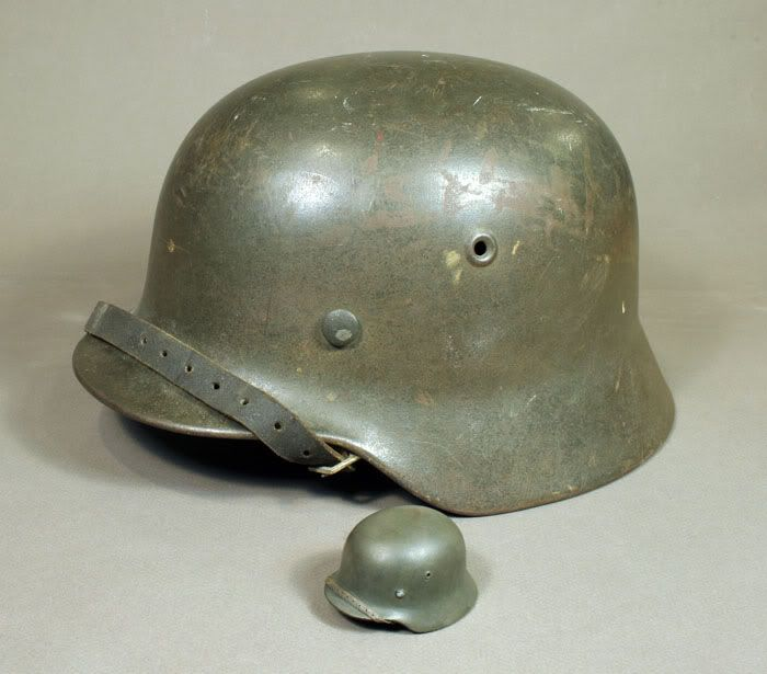 1/6 Scale German Helmet Largeandsmall