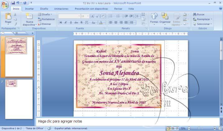 TAREAS DEL CURSO DE INVITACIONES CON POWER POINT - Página 4 Tarea2A
