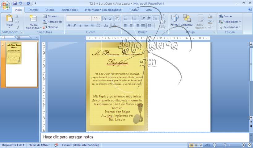 TAREAS DEL CURSO DE INVITACIONES CON POWER POINT - Página 6 Tarea3