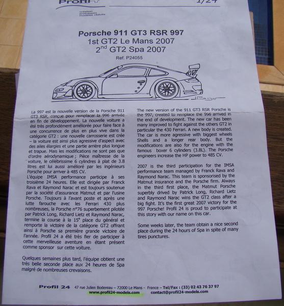 Porsche 911 GT3 RSR-997 Le Mans 2007 - MATMUT DSC02328