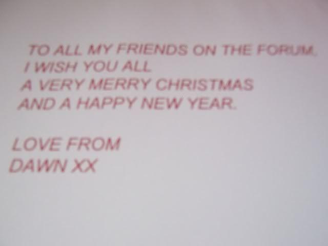 A card from Dawn 007
