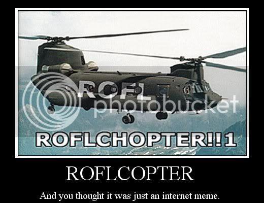 Motivational posters ROFLCOPTER